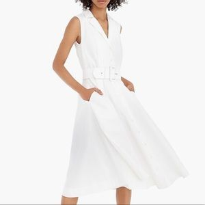 J.Crew Tall A-Line Sleeveless Shirt Dress